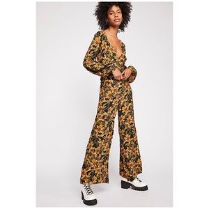 Free People floral 2 piece set